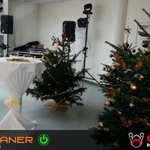 Weihnachtsfeier Cocktailtische